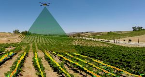 Image of Aerial Drone Surveying Agricultural Crops